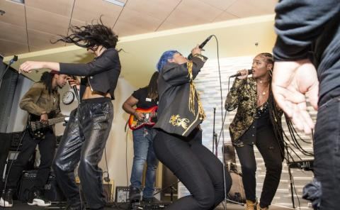 Aviance Performs at Spring Garden Records Launch
