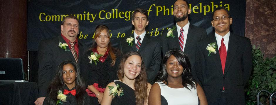 Honor society students