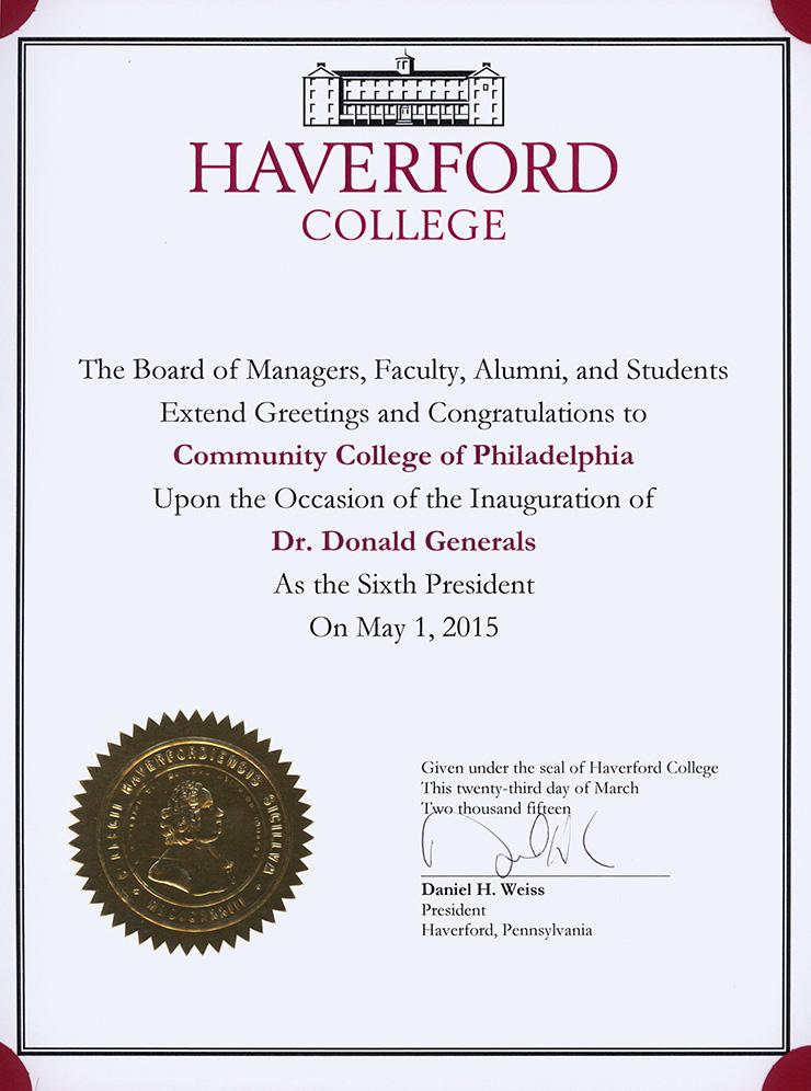 Congratulate Dr Generals | Community College of Philadelphia