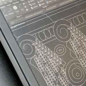 image of architectural drawing on a computer screen