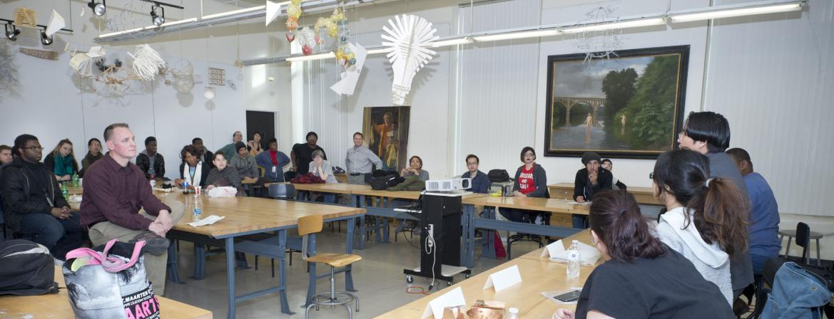 Students in classroom at Community College of Philadelphia.