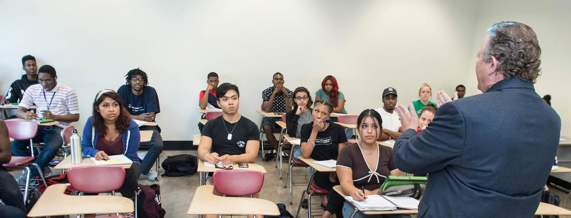 Students in Justice Class at Community College of Philadelphia.