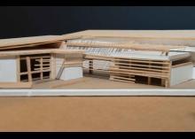 Architectural design model in class at CCP.