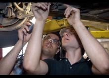 CCP students working on automotive repair.