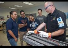 CCP students learning about Automotive Technology in classroom.