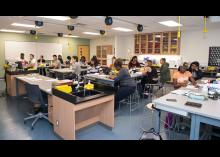 A classroom at Community College of Philadelphia.
