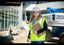 A student in the Construction Management program at CCP.