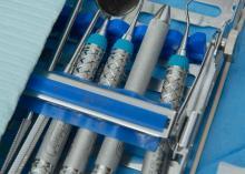 Dental equipment in clinic at Community College of Philadelphia.