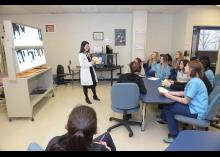 Students learning about DMI in classrom at Community College of Philadelphia.
