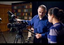 Using filming Equipment for CCP TV.
