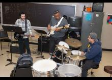 Music students playing instruments in CCP class.