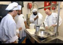 CCP students learning in the Culinary Arts program.