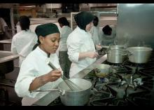 Culinary students at Community College of Philadelphia.