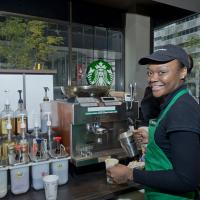 Carmen Williams working at Starbucks