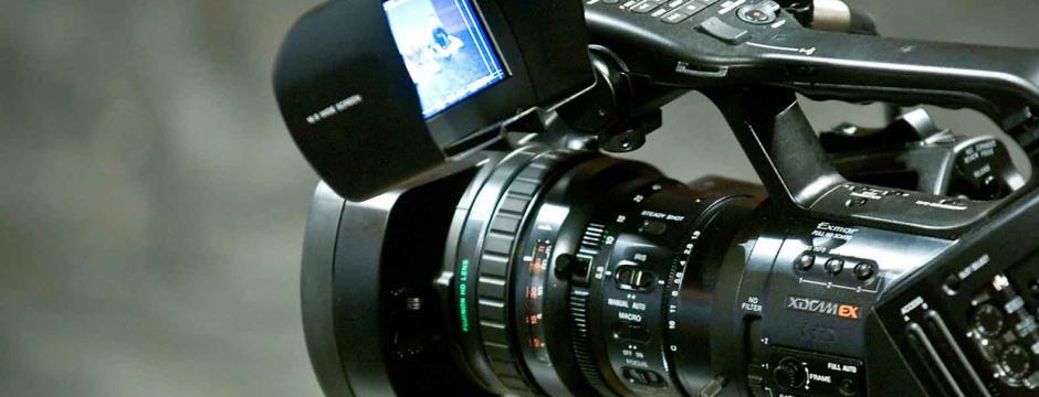 Digital video camera at Community College of Philadelphia.