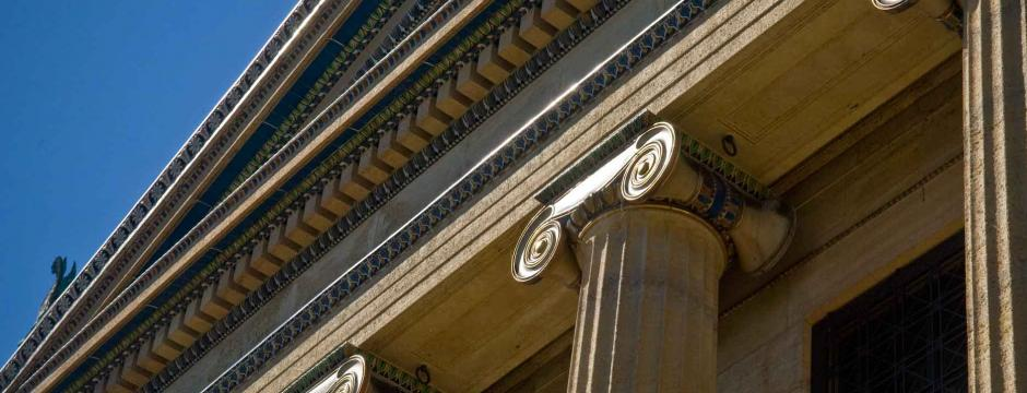 Top columns of court house