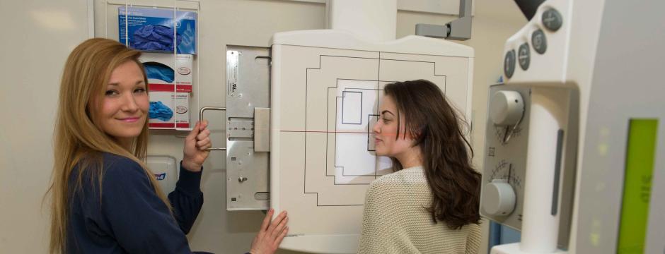 DMI Students operating x-ray machinery