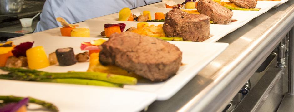 Prepared food in the Culinary Arts program at Community College of Philadelphia.