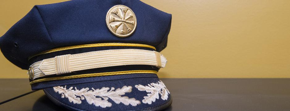 hat used by fire captan